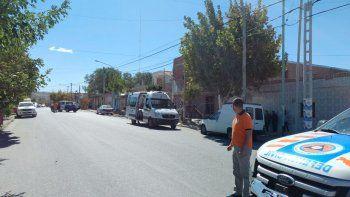 un albanil se cayo tres metros desde el andamio en la obra de una iglesia evangelica