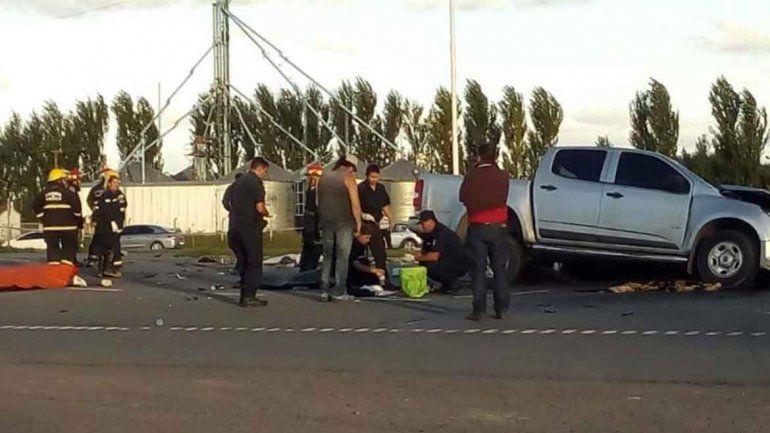 Ruta 7: ocho muertos en un choque entre un camión y una camioneta
