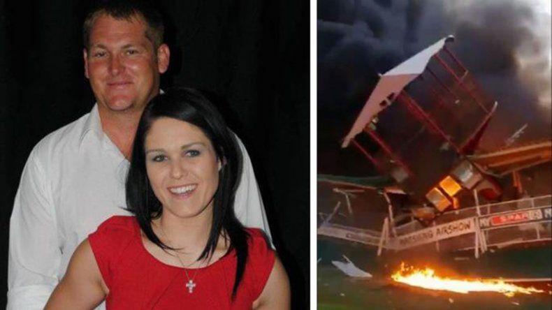 Borracho, le tiró el avión encima a su mujer y murió