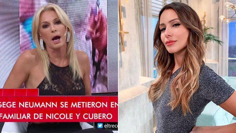 Yanina defendió a Nicole y fue lapidaria con Pampita: Es patética como mamá y mujer