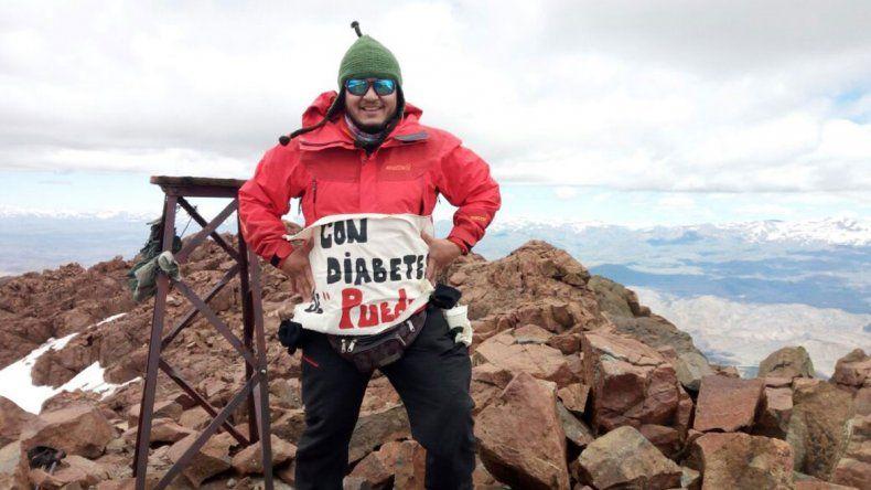 Vence la diabetes haciendo cumbre en los volcanes