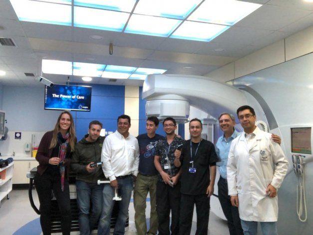 El COI participó con éxito de una radiocirugía craneal en Chile