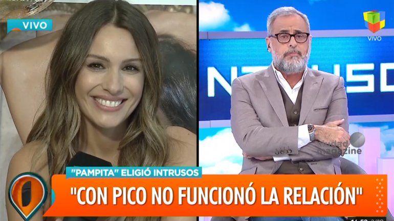 Con una sonrisa, Pampita se dio el gusto y le cantó las 40 a Jorge Rial
