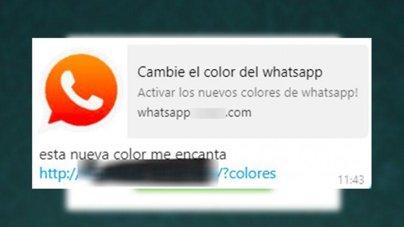Cambie el color de WhatsApp: el engaño que busca llenar de publicidad tu celular