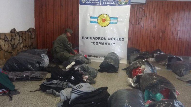 Secuestraron ropa trucha valuada en 2 millones de pesos