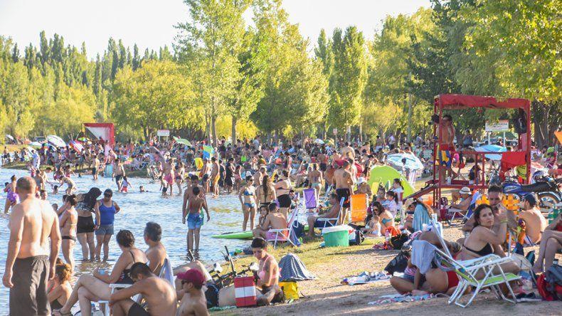 La gente fue más consciente para bañarse en el río