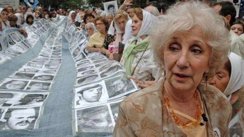 Estela de Carlotto criticó la oficina de DDHH para policías: Es una locura