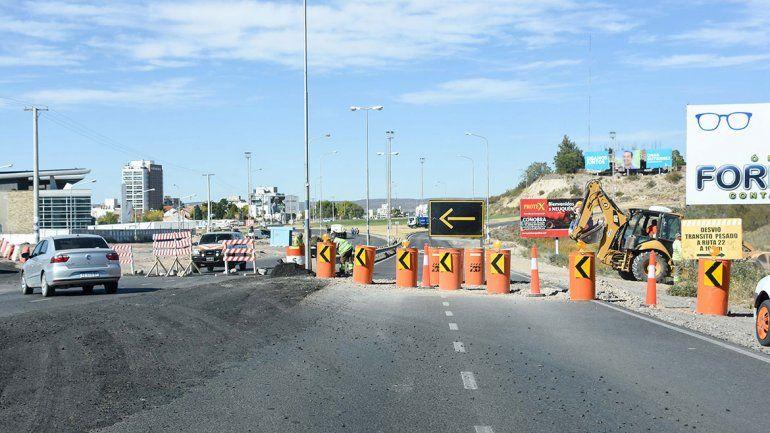 Así debutaron los desvíos de acceso y salida de la Ruta 7