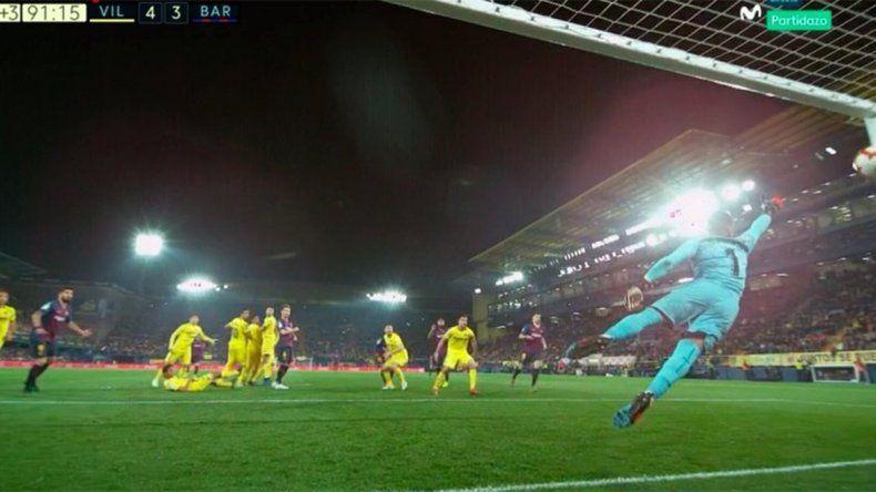 Con una joya de Messi, Barcelona salvó un empate milagroso en un partidazo