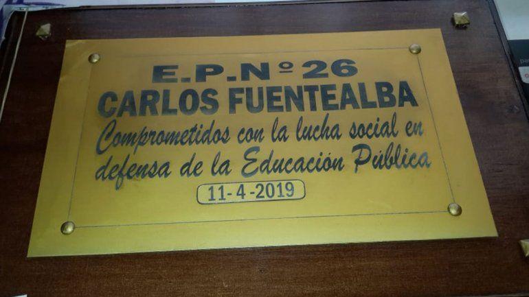La placa se colocará oficialmente el próximo 11 de abril.