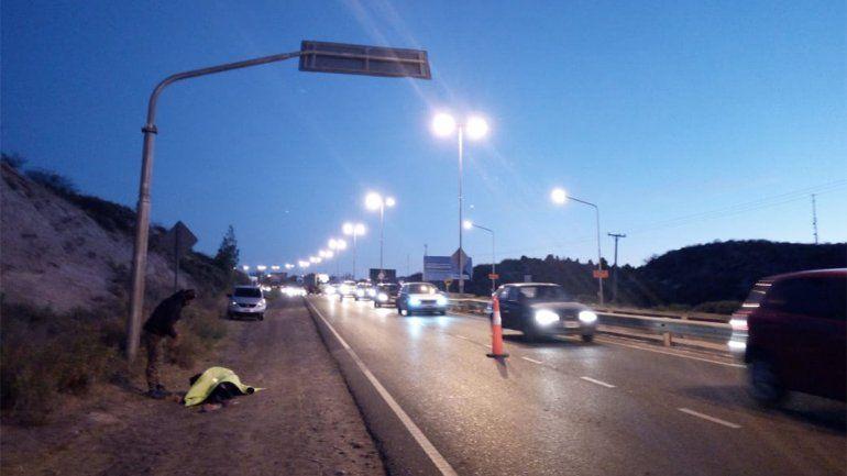Una ciclista resultó lesionada en un accidente en Albardón y Ruta 7