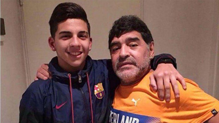 El sobrino nieto de Maradona, por debutar en River