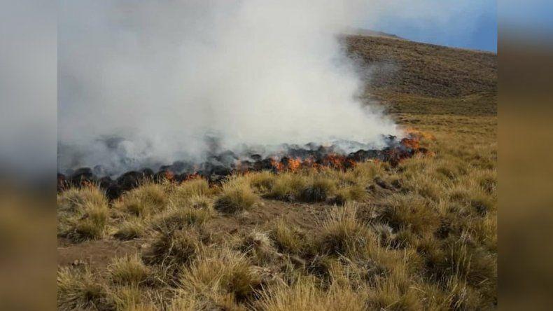 Quemaban basura y el fuego se propagó por la sequía