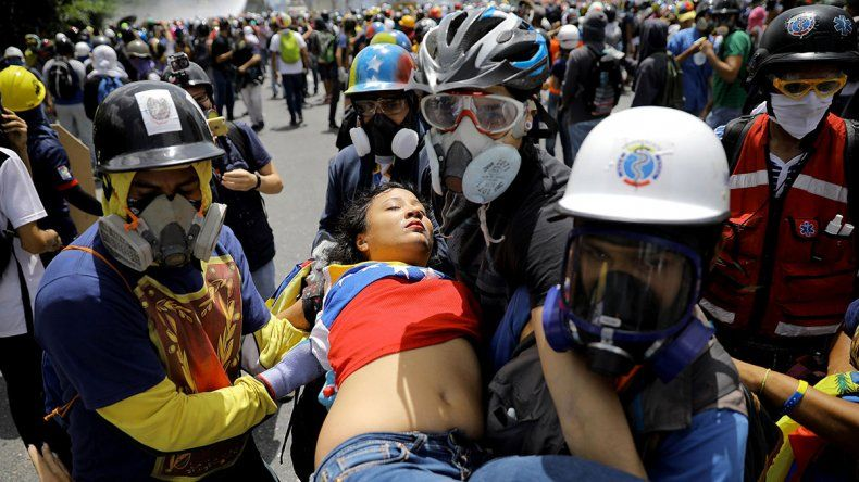 Incidentes, heridos y detenidos en una protesta en Venezuela