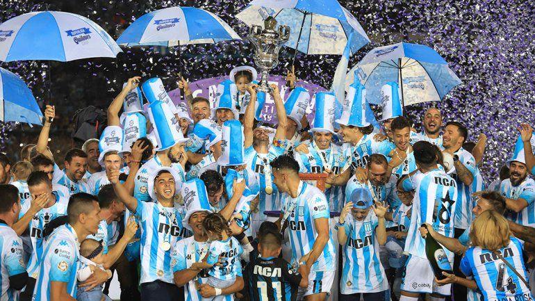 Racing tiró la casa por la ventana: así fueron los festejos del campeón de la Superliga