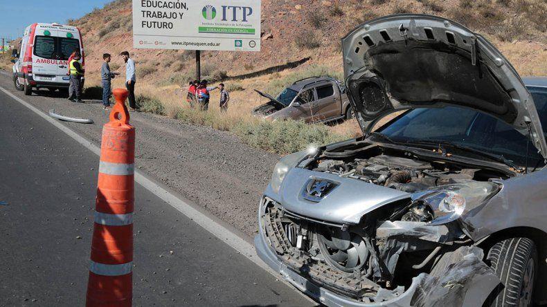 Un herido en otro choque entre dos autos en la Ruta 7