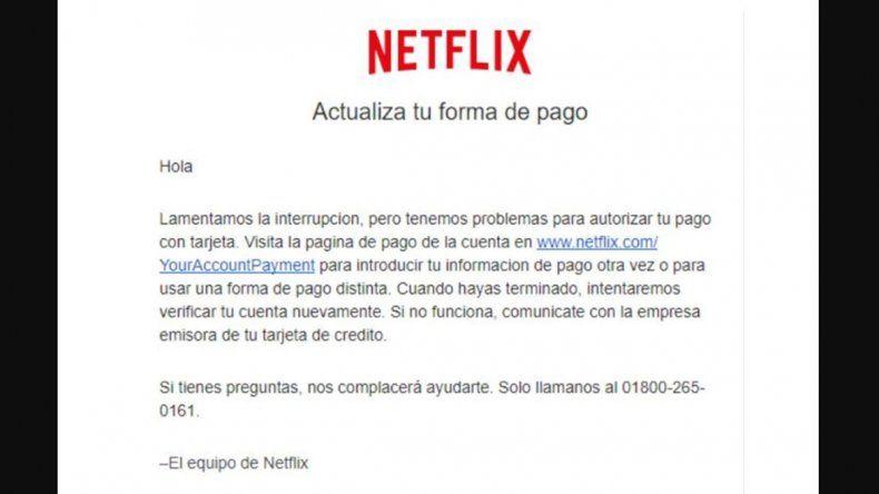 Alerta por falsos e-mails de Netflix que roban datos