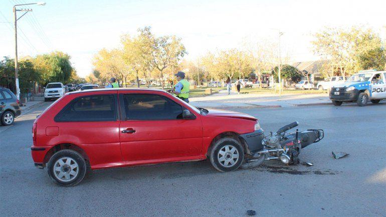 Un violento accidente de tránsito dejó como saldo a una persona herida