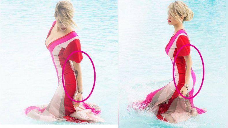 Wanda abusó otra vez del photoshop y se mostró con un brazo extremadamente delgado