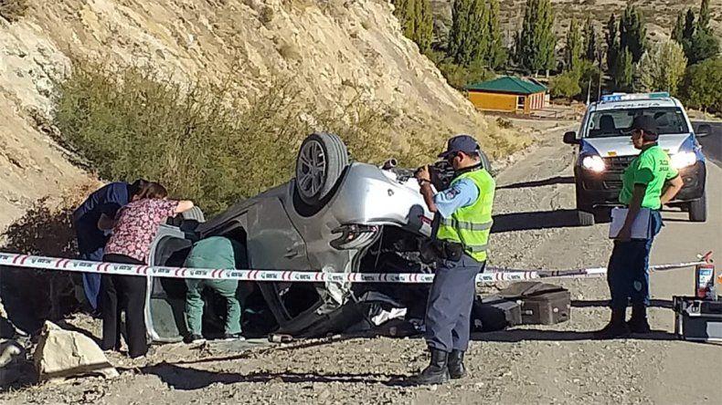 Un hombre murió en un vuelco cerca del Puente Picún Leufú cuando iba a Junín