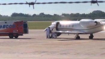 sergio denis fue trasladado en avion sanitario a buenos aires