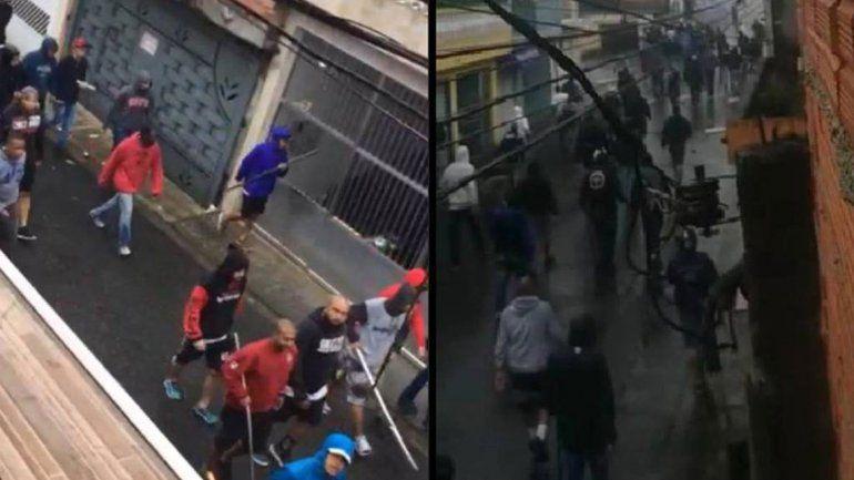 Era sin visitantes pero igual se cruzaron dos barras brasileñas: tiros y heridos
