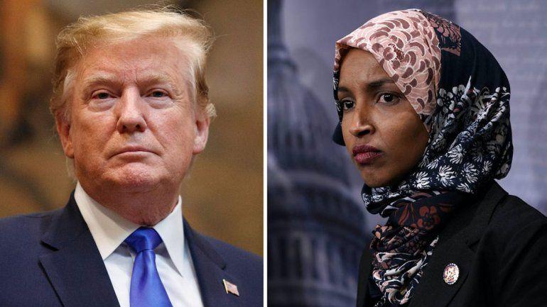 Trump, contra una legisladora musulmana