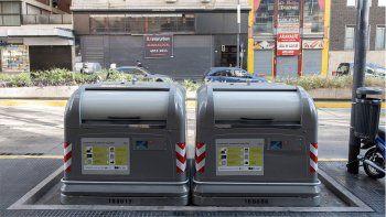 contenedores magneticos para evitar que la gente saque basura