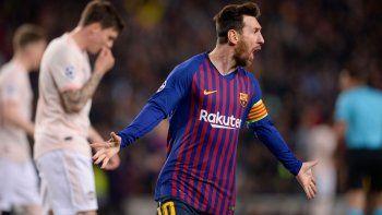gracias a messi, el barcelona esta en las semifinales de la champions