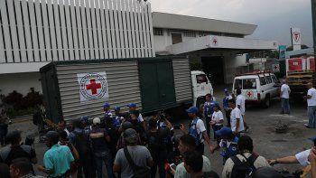 venezuela: al fin llego la ayuda de la cruz roja