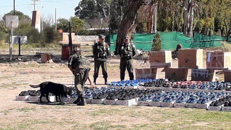 Secuestraron casi 650 pares de zapatillas truchas que venían a Neuquén