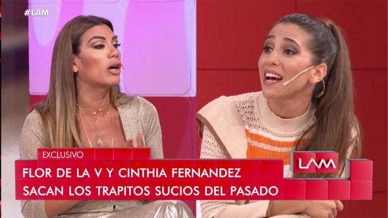 Cinthia Fernández discutió feo con Flor de la Ve y la acusó de meter la cola para dejarla sin trabajo