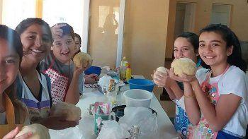 el taller cocina kids la rompio entre los ninos de las lajas