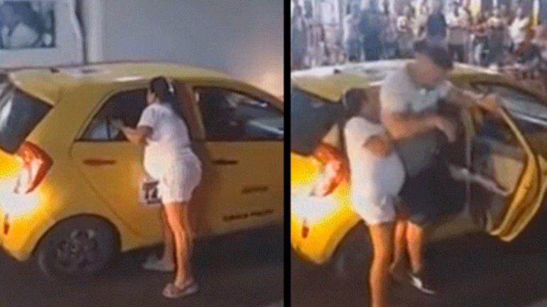 Video: una mujer embarazada sorprendió a su marido con una amante