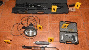detuvieron a siete cazadores por circular sin la documentacion de sus armas en junin