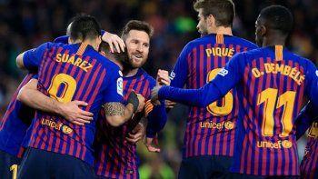 barcelona mantiene la ventaja y dio otro pasito mas al titulo