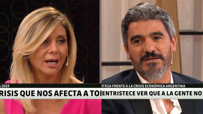 El Burrito Ortega reapareció en televisión y le paró el carro a la periodista Débora Plager