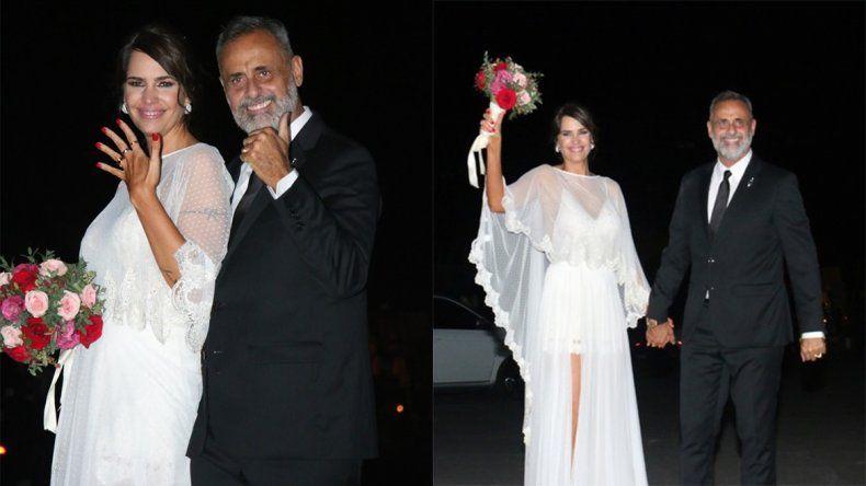 Las mejores fotos del casamiento de Jorge Rial y Romina Pereiro