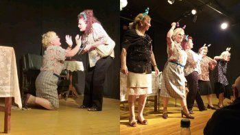 jubilosas, cinco abuelas inquietas y apasionadas se suben a las tablas