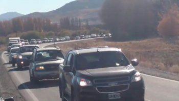 retorno: pasan 50 autos por minuto en senillosa