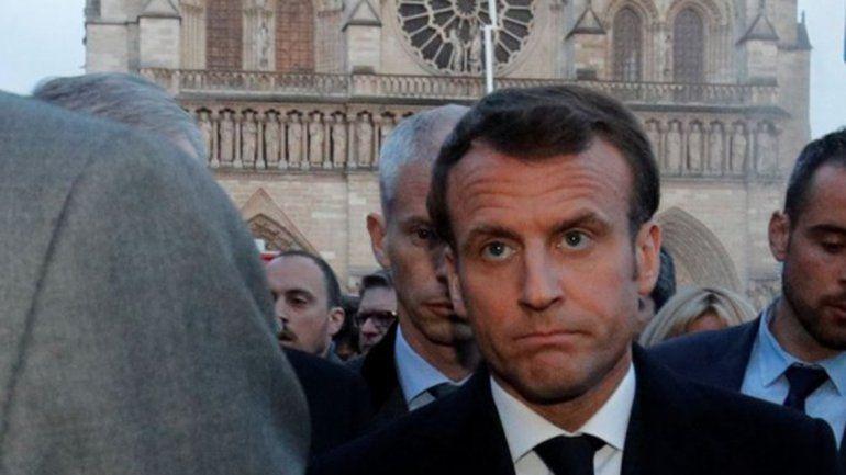 La popularidad de Macron creció por Notre Dame