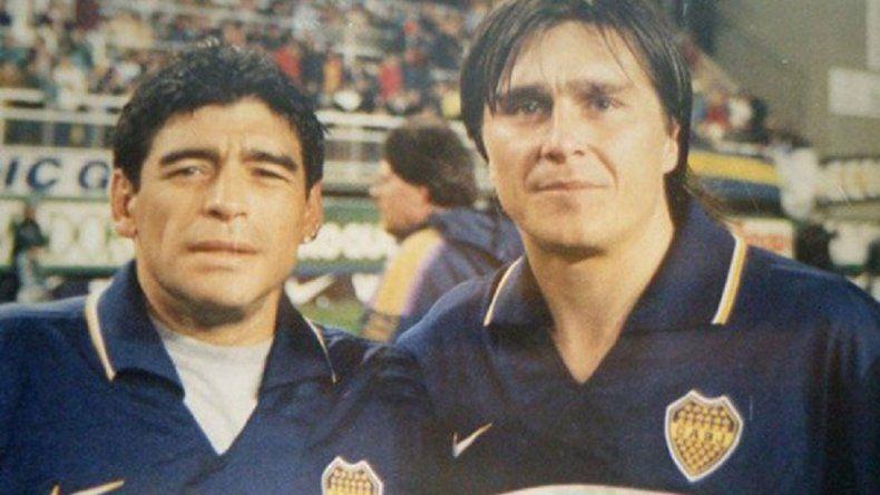 El emotivo saludo de Diego Maradona al hijo del Huevo Toresani