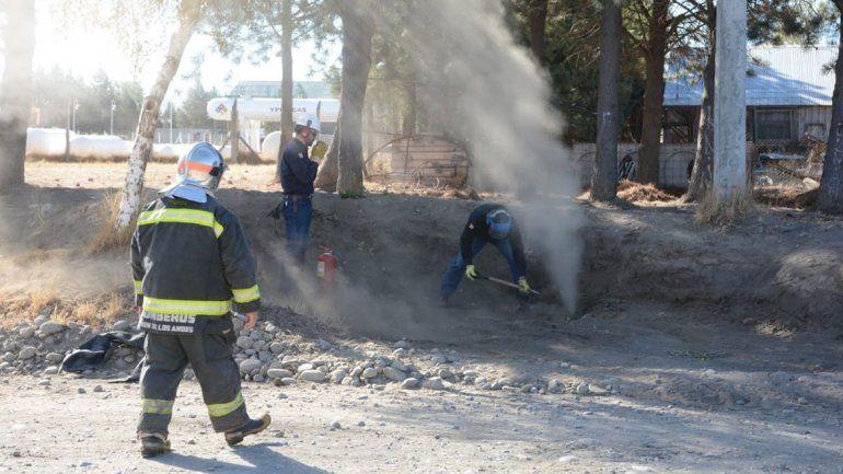 Una máquina cargadora rompió un caño de gas y provocó un susto grande en Junín