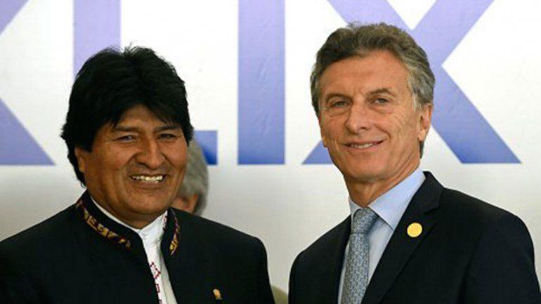 Macri y Evo Morales acordaron en la Rosada