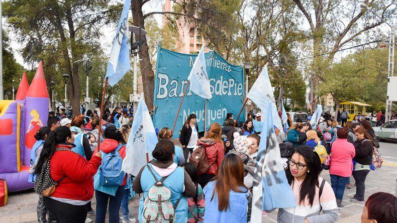 Barrios de Pie se movilizó en reclamo por alimentos