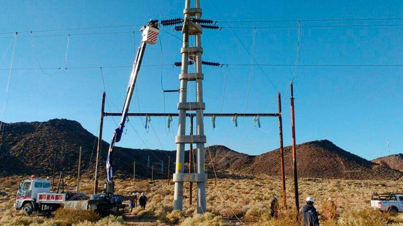 Oeste provincial: el domingo realizarán tareas en líneas de alta tensión