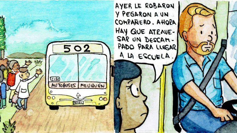 La historia del chofer solidario y sancionado se convirtió en una historieta en las redes