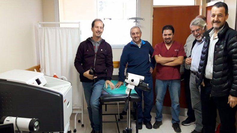 Donaron equipos para el centro de salud de Pehuenia