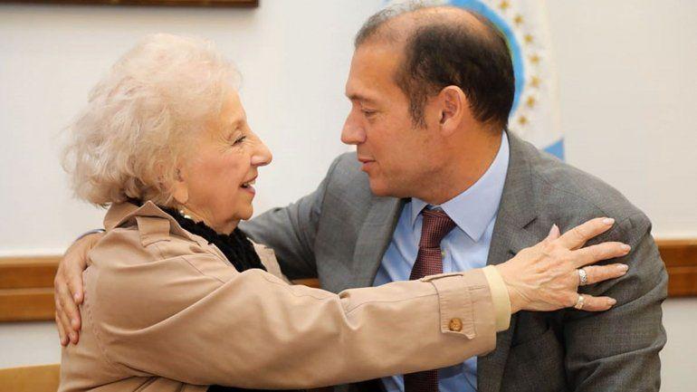 Gutiérrez recibió con los brazos abiertos a Estela de Carlotto