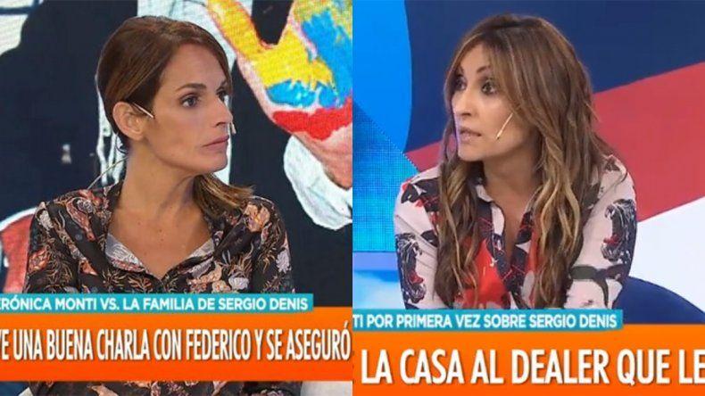 Tremendo: Verónica Monti reveló que Sergio Denis es adicto a la cocaína y Marcela Tauro la cruzó furiosa